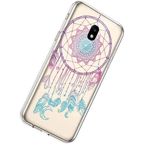 Herbests Compatible with Samsung Galaxy A40 Case Wallet Leather Case Embossed Mandala Flower Pattern Design PU Leather Flip Cover with Wrist Strap Kickstand Card Slots Holder,Brown