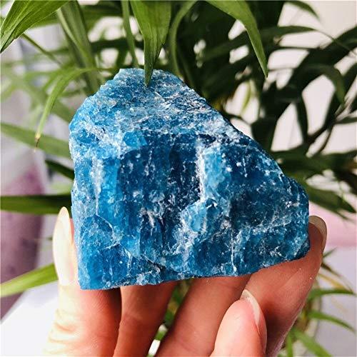 ABCBCA 150-180g Natural Crudo Azul apatita espécimen de Pie