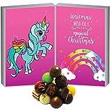 Hallingers Pralinen-Adventskalender - Unicorn (Buch-Karton)