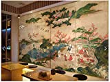 Fototapeten Wand Tapete Wohnzimmer Schlafzimmer-Japanisches Ukiyo-E Restaurant-Hotpot-Restaurant-Sushi-Restaurant-Hintergrundwand, 200Cm X 140 Cm (78,7 X 55,1 Zoll)