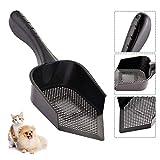 Litière pour chat Pelle à chat pointue Pelle à litière Portable Durable PVC à chat Pelle en plastique Nettoyage intérieur pratique Pet Kitten Litter Tray Poo Shovel pour un nettoyage plus facile