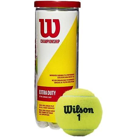 Wilson Championship Extra Duty, Tennis, Tubo con 3 Palline, per Tutte Le superfici Unisex Adulto