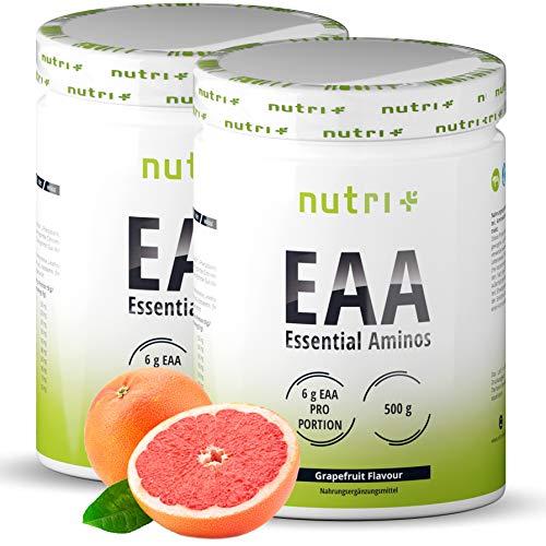 Aminosäure-Pulver Vegan 1000g EAA - HÖCHSTE DOSIERUNG - alle essentiellen Aminos - Grapefruit Geschmack - Instant EAAs Powder - Essential amino acids