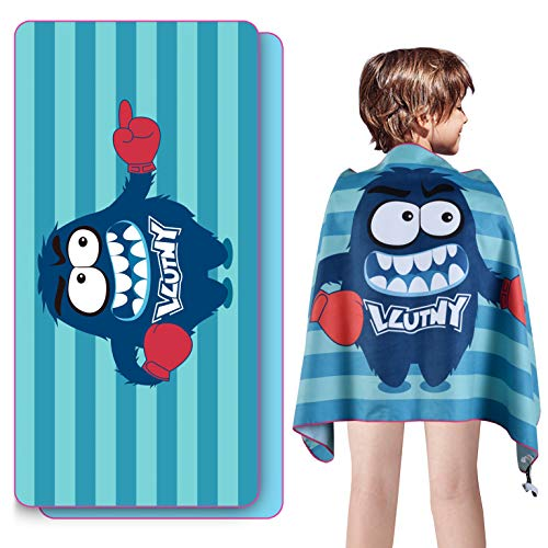 LLUTNY Beach Towels for Kids, Soft & Absorbent, Lightweight & Compact, Sand Proof & Quick Dry Microfiber Beach Towel for Beach, Pool, Swimming, Camping, Travel