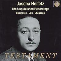 Unpublished Recordings Jascha Heifetz
