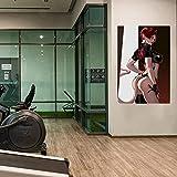 WKAQM Sexy Muro Arte Pittura Nudo Donne Muro Immagini Adulti Anime Poster Camera da Letto Arredamento Sexy Erotico Tela Arte Grande Seni Muro Stampe Bar Arredamento Senza Cornice TL-090