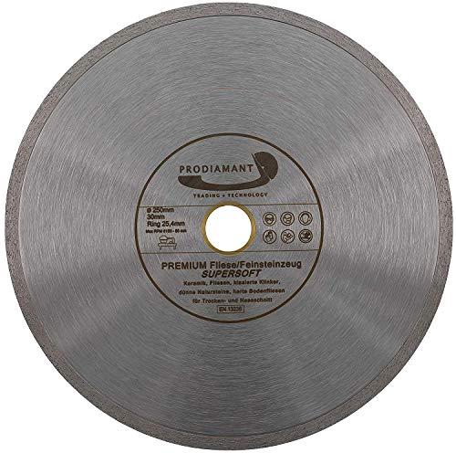 PRODIAMANT Disco diamantato premium per piastrelle 250 mm x 25,4 mm, disco diamantato PDX846.700 250mm
