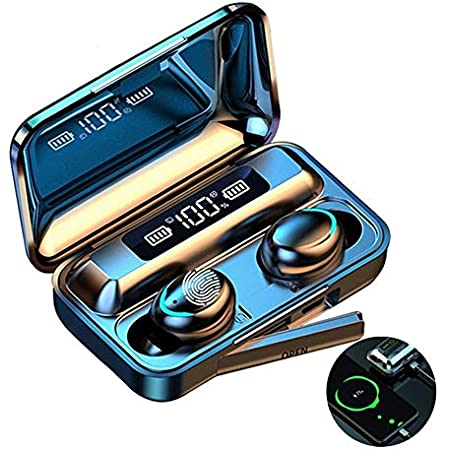 Audífonos Bluetooth Inalámbricos , Auriculares Deportivos con Control Táctil y LED Pantalla, Estuche de Carga 2000mAh, Micrófonos Dual Incorporado HD Estéreo IPX5 Impermeable Auriculares Bluetooth, para iOS y Android
