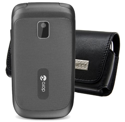 Original MTT Quertasche für / Doro PhoneEasy 631 / Horizontal Tasche Ledertasche Handytasche Etui mit Clip & Sicherheitsschlaufe*