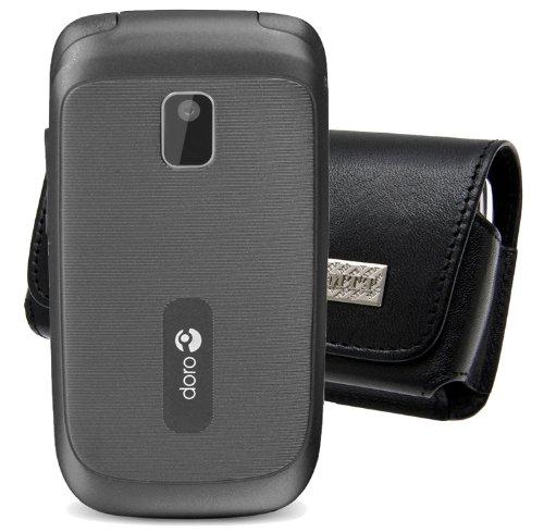 Original MTT Quertasche für Doro 6050 Tasche Horizontal Ledertasche Handytasche Etui mit Clip & Sicherheitsschlaufe*