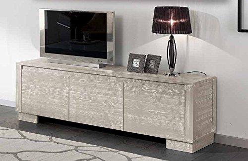 Meuble TV 3 paniers ameublement maison Bois massif Design moderne