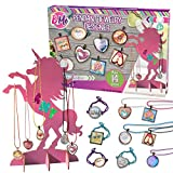 Jewelry Activity Making Kit for Bracelet Pendant Necklace, DIY Arts & Crafts Gift Set for Teenage Girls with Charms & Unicorn Stand, Birthday Present for Kids Ages Year Old 8 9 10 11 12 13 14 15 16