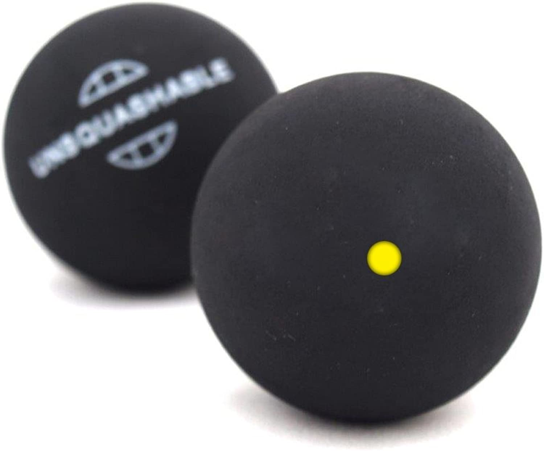 (Black One Yellow)  Unsquashable Squash Balls 2Pack