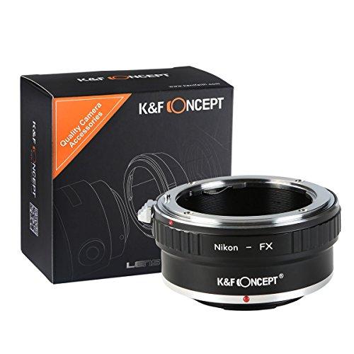 K&F Concept® NIK-FX(AI-FX Adaptador de Montaje de Lente para Montar NIK Mount Lente a Fujifilm FX Mount Cámara para Fujifilm FX Mount Cámara