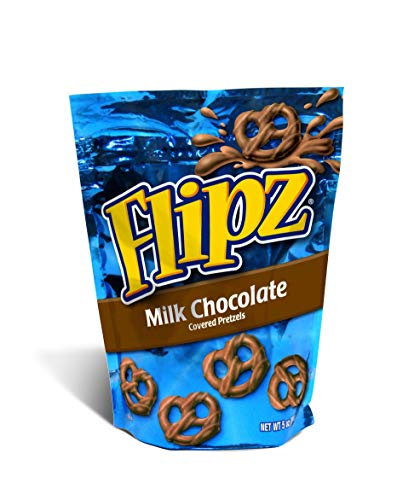 Flipz Milk Chocolate Covered Pretzels of 5 Oz  6 Bags