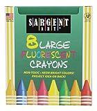 Sargent Art 220551Fluorescente 8Crayons Tuck Box, Cera, 9,5x 9,2x 1,4cm