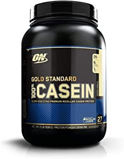 OPTIMUM NUTRITION GOLD STANDARD 100% Casein Protein Powder, Creamy Vanilla, 2 Pound