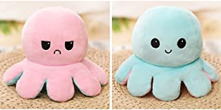 Cute Octopus Plush Toys Double-Sided Flip Octopus Doll Soft Octopus Stuffed Animals Doll Creative Toy Gifts for Kids, Girl...