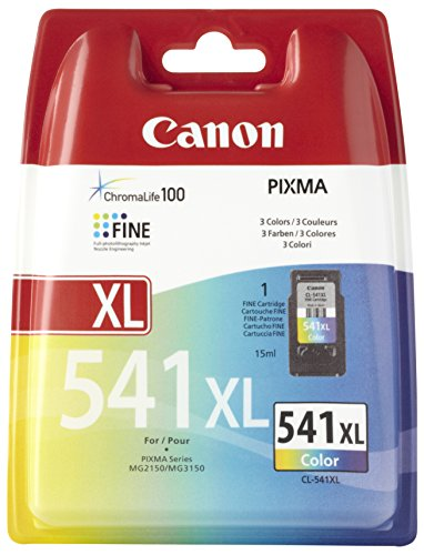 Canon CL-541 XL - Cartucho de Tinta para Impresoras (Cian, Magenta, Amarillo, Alto, - Canon Mg-2150 - Canon Mg-3150, Ampolla) Si