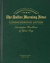 Personalized Birthday Newspaper Book (Dallas Morning News - Green Standard Edition)