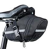 1pc Bicicletas Silla Resistente al Cierre de la Moda Zip Portable Accesorio Bolsa de Bici de la Bicicleta Duradera Bolsa de Agua (Color : Black, Size : 20 X 8 X 6cm)