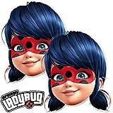6 Masken * Ladybug * als Verkleidung und Mitgebsel für Mottoparty und Superheldinnen-Mottoparty //...