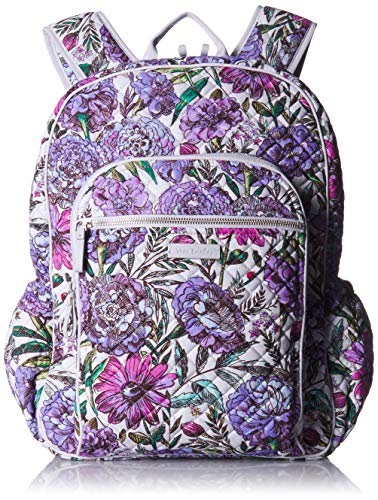 Vera Bradley Women's Signature Cotton Campus Backpack, Lavender Meadow, One Size