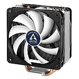 ARCTIC Freezer 33 Plus - Enfriador de CPU Semipasivo, Ventilador de CPU para Intel y AMD, hasta 160W TDP, Potencia de Enfriamiento, Refrigerador con Ventilador PWM de 120 mm, Silencioso y Eficiente