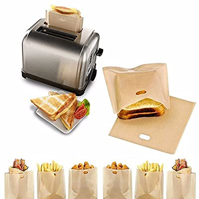 IETONE Reusable Non Stick Toaster Bags Sandwich Bread Toast Pockets, Set of 10