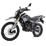 X-Pro Hawk DLX 250 EFI Fuel Injection 250cc Endure Dirt Bike Motorcycle Bike Hawk Deluxe Dirt Bike Street Bike Motorcycle with Motorcycle Cover, Bluetooth Speaker and Phone Bracket,Blue