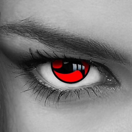 Kontaktlinsen farbig - Itachi-III (N-13) - Crazy Fun Helloween Party - Markenprodukt von LUXDELUX®
