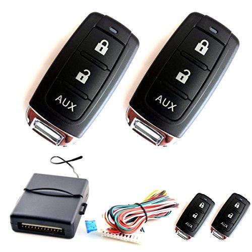 Akhan 100F16 - Funkfernbedienung für vorhandene original Zentralverriegelung, mit 2 Handsender geeignet für pneumatische, elektrische u. nachträglich eingebaute Zentralverriegelungen
