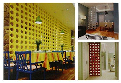 Fuchs Design 6 Stück Style'n Art Deko Idee Loop Rot 19x19x8 cm