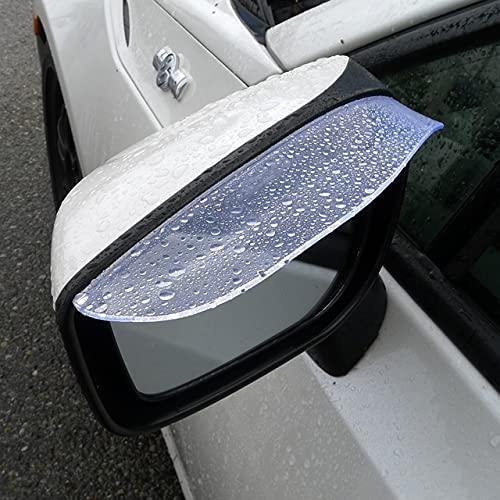 TRUE LINE Automotive Two Piece Clear See Though Mirror Rain Snow Visor Guard