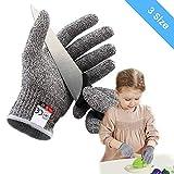 OUTERDO Schnittsichere Handschuhe für Kinder – Leistungsfähiger Level 5 Schutz, Schnittfeste Handschuhe lebensmittelecht,XXS für 5-8 Jährige
