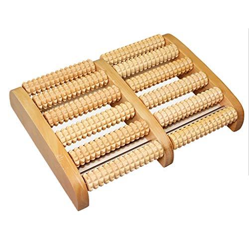 FEN Holz Fußmassagegerät Home Druck Entlasten Plantar Fasciitis Fußschmerzen Und Akupressur Massage Fußmassage Werkzeug Geschenk Multi-Size Roller (Energy A+) (größe : Large 6 Rows)