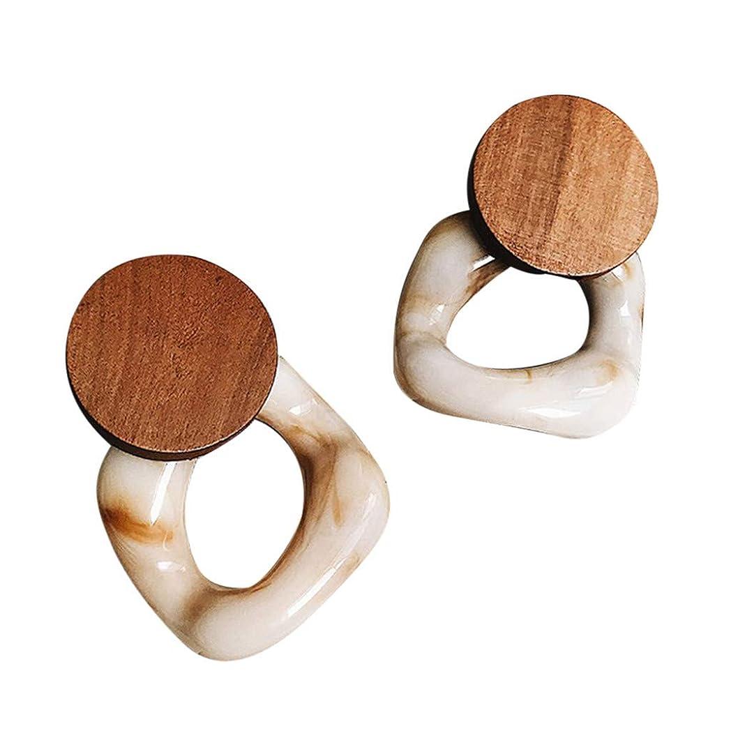 非行バトル計算Nicircle 女性のための新しいファッション樹脂大イヤリング木製イヤリングジュエリー レトロ 樹脂 イヤリング New Fashion Resin Large Earrings For Women Wooden Earrings Jewelry