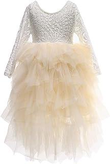 Flower Girls Tutu Lace Cake Dress Skirts Princess Birthday Party Dresses