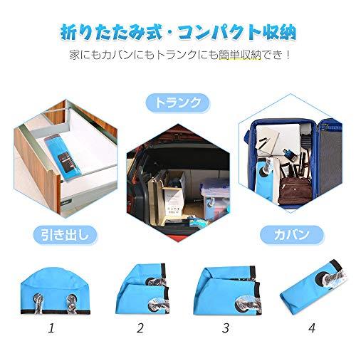 折りたたみバケツ釣り洗車洗濯キャンプ旅行コンパクト持ち運び大容量12L20L防水3色(ブルー,12L)