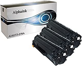 Alphaink KIT-3-AI-278A Kit 3 toner compatibili per HP CE278A HP Laserjet Pro P1566 P1606 P1606D P1606DN P1606N M1536 M1536D MFP M1536DN M1536DNF MFP M1536F M1536N MFP M1536NF MFP 2000copie