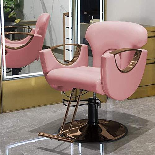 Frisierstuhl, Friseurstuhl, hydraulischer Komfort-Stil, verstellbare Höhe, 360° drehbar, kann nach unten gestellt werden, Salonqualität für Beauty Profe