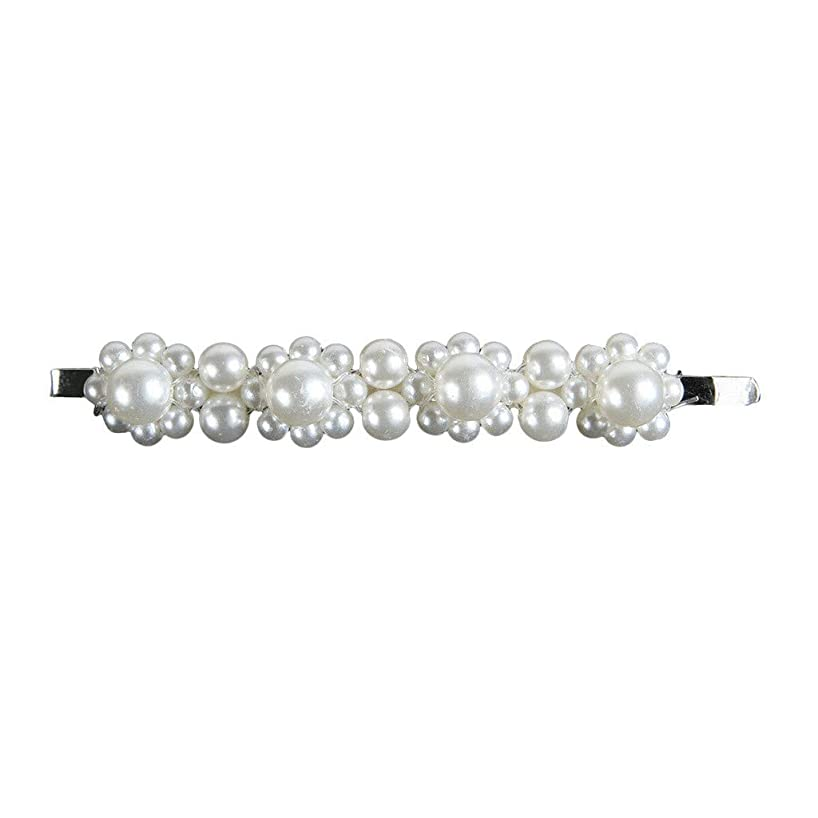 VEZARON Pearl Hair Clips for Women Girls,Fashion Sweet Artificial Pearl Clips Hair Styling Pins Barrettes Decorative Hair Accessories for Birthday Party Wedding Daily