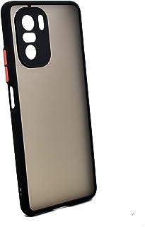 جراب حامل معدني مغناطيسي لهاتف Xiaomi Poco F3 & Mi 11i (أسود)