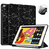 Fintie SlimShell Case for New iPad 7th Generation 10.2 Inch 2019 with Built-in Pencil Holder - Smart Stand Soft TPU Back Cover, Auto Wake/Sleep for iPad 10.2' Tablet, Constellation