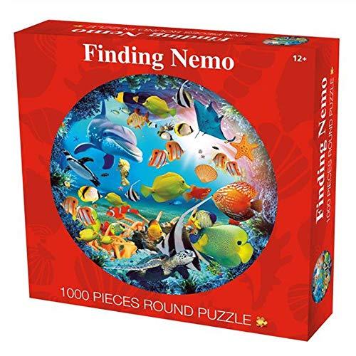 klkll Puzzle 1000 Stück/Set Unterwasser-Weltrunde Fotopuzzle Erwachsene Kinder DIY Pädagogisch Stressreduzieren Puzzle Papierspiel