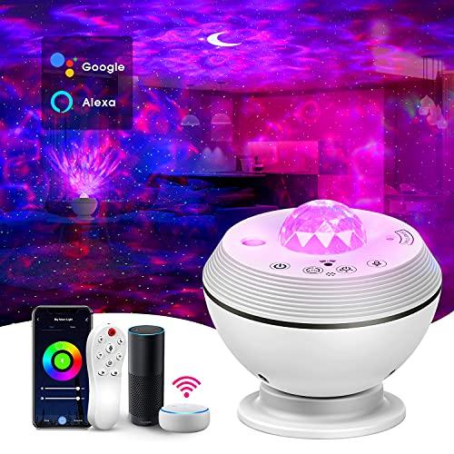Alexa planetario proyector, lampara infantil nocturna Luz LED con control remoto y función de...