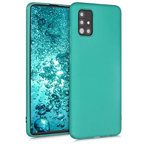 kwmobile Hülle kompatibel mit Samsung Galaxy A51 - Handy Case Metallic Türkis
