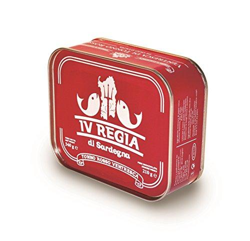 Ventresca di Tonno Rosso del Mediterraneo Kosher IV REGIA DI SARDEGNA in olio d'oliva 340g - Ottieni la spedizione GRATUITA con un acquisto di almeno 30€ di prodotti spediti da LE MAREVIGLIE