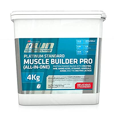 OWN - Platinum Standard Muscle Builder Pro All-in-One Lean Muscle Fuelling Gainer, Strawberry Flavour, 4kg by Optimal Well-being Nutrition