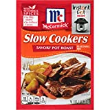 McCormick Slow Cookers Savory Pot Roast Seasoning Mix, 1.3 oz, Pack of 12